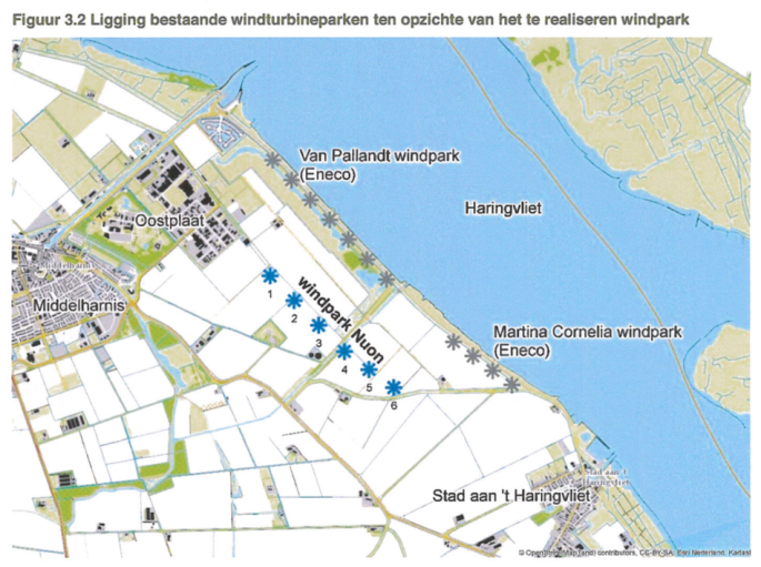 figuur 3.2 Windpark Detailleringen Haringvliet